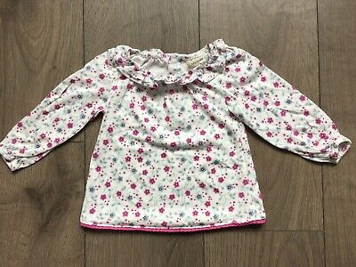 John Lewis Baby Girl Long Sleeve Floral Top 3-6 Months Never Worn