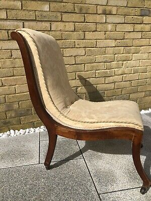 antique victorian mahogany nursing chair