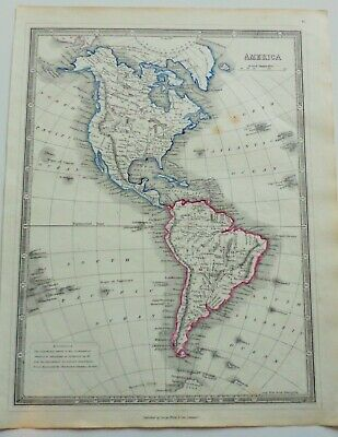 Rare Map Of America  1850 In Vg Condition