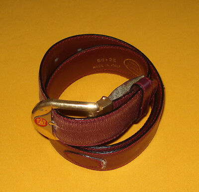 MEN'S PAOLO GUCCI DARK RED MADE IN ITALY GENUINE LEATHER BELT SIZE 30/75cm..