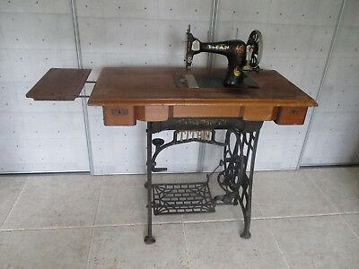 Sewing machine 1920 Art Nouveau treadle model Titan Winselmann attic find
