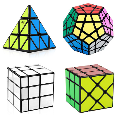 Magic Cube 3x3 Megaminx Pyraminx Mirror Smooth Speed Fast Rubix Rubiks Puzzle
