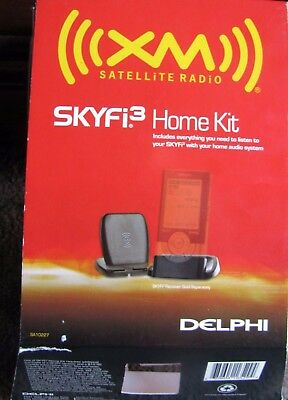 Delphi SA10227 SKYFi3 Home Adapter Kit XM Satellite Radio *NIB