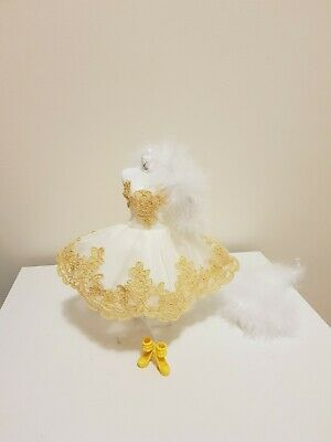 Quality yellow lace edge ballerina outfit for your Barbie MD 02 Au Seller