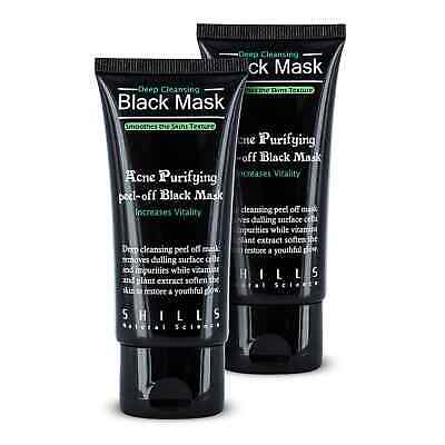 Masque shills Charbon Point Noirs Acné Visage Peeling Black Mask 50ml lot de 2