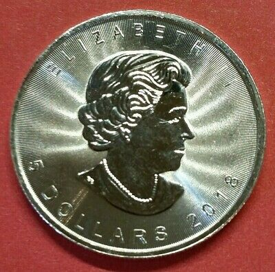 2018 $5 .9999 Pure Silver Canadian Maple Leaf 1 Oz. BU Collectible Coin