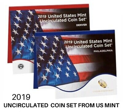 2019 US Mint Uncirculated Coin Set In Sealed Box(19RJ), No W Cent / PRE-SALE