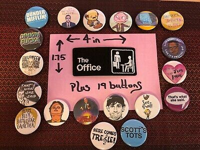 Iron on Patch & 15 The Office TV Show 1.5 In Pinback Buttons Michael Scott!