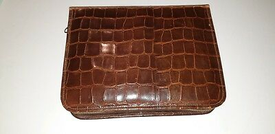 Vintage Gents Vanity Hide Shaving Case With Shown Accoutrements Vgc+
