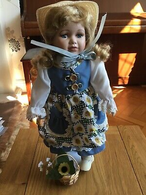 Vanity Fair Porcelain Doll Excellent Condition Rarely Out Of Box