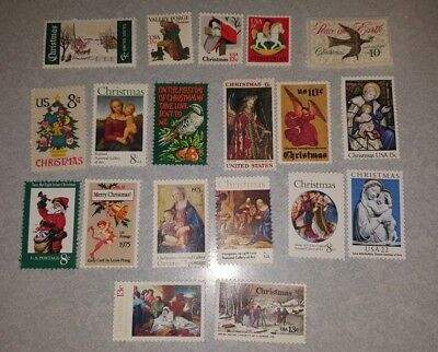 US Mint Never Hinged Postage Stamps 19 Different Holiday Stamps Face Value $2.04
