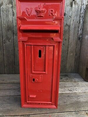 Antique Cast Iron Post Box VR Post Box - Original Victorian