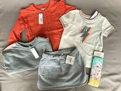NEW Girls Size 3T Gymboree Outfit SHINE Sunset Shirt /& Blue Bike Shorts 2018 NWT