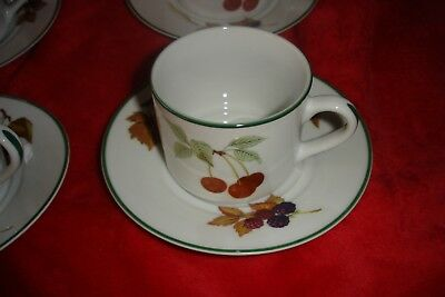 Royal Worcester Evesham Vale UNUSED CUP + SAUCER. BARGAIN TO CLEAR SEVERALE ABL