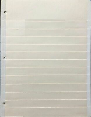 10 Preowned Manilla stock pages 12 rows 8.5 X 11 Inches Used