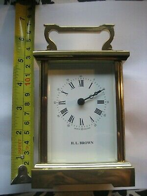 A Brass Heavy H.l.brown Carriage Clock ( Battery Operated )