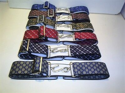 unique melford  abstract 1.1/2 inch wide snake belts  fits 30 to 44 waist