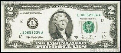Uncirculated $2 Two Dollar bill note BEP Lucky USD Fancy With clear case Crisp
