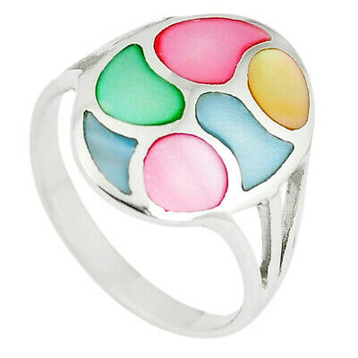 Gemstone 925 Silver Natural White Pearl Topaz Ring Jewelry Size 5.5 Thejaipurshop High Safety