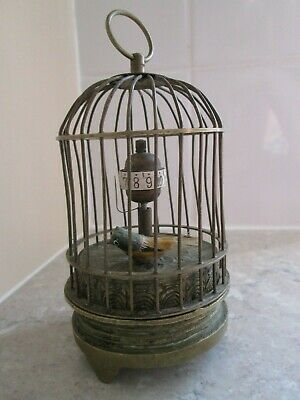 Vintage Brass / Bronze Birdcage Clock - For Restoration