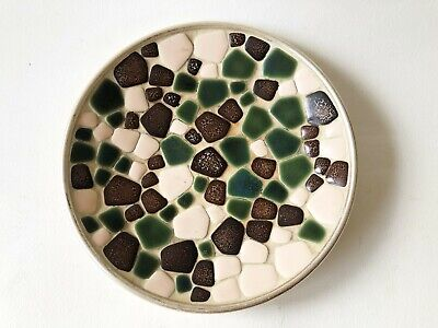 Vintage 1960's 1970's Mid Century Modern Mosaic Catchall Trinket Tray Dish