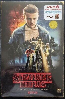 ☆New☆ Stranger Things Season 1 Bluray Dvd Target Exclusive Vhs Packing + Poster