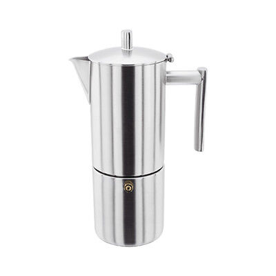 Stellar 6 Cup Espresso Maker Matt Stainless Steel - Dishwasher safe