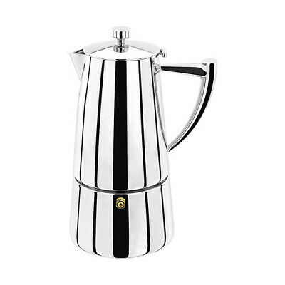 Stellar Art Deco 6 Cup Espresso Maker - Suitable for all types of hops+Induction