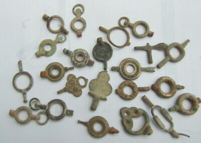 Large Group of Old Watch Keys (Victorian & Georgian)