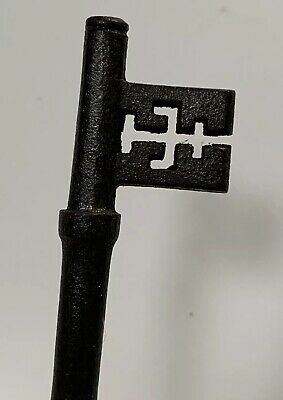 Old Vintage Antique Cast Iron Lock Key - Architectural Salvage 4.5 Inch