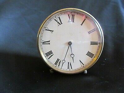 Antique French V.A.P Brevete S.G.D.C Brass Clock - Early 20th Century With Key