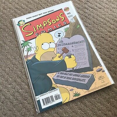 SIMPSONS COMICS #62 - Great Condition - BONGO US - September 2001 - NM