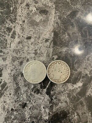1907 And 1910 Liberty Head Nickels