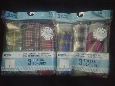 OLD NAVY MEDIUM BOXERS Lot of TWO 3-Packs (6 Pairs Total) 32-34 INCH WAIST (M)