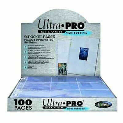 Ultra Pro Silver Series 9 Pocket Page Protectors - 100 Pack