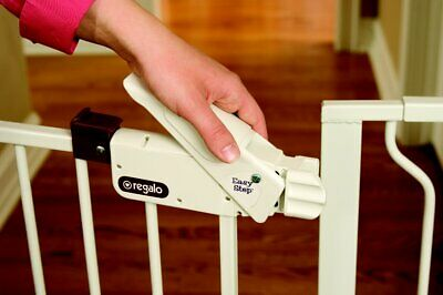 Regalo Easy Step Extra Wide Baby Gate, Includes 4-Inch and 4-Inch Extension Ki..