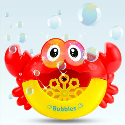 Crabs Kids Infant With Light Music Bathtub Maker Bubble Blower Bath Toys Funny