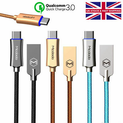 Auto Disconnect Micro USB and TypeC Braided Data Sync Charging Cable Samsung S10