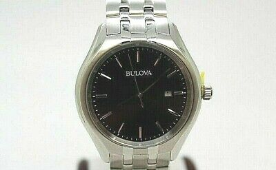 Bulova Classic Men's 96B265 Quartz Black Dial Silver-Tone Bracelet 41mm Watch-51