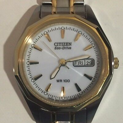 Citizen Eco-Drive EW3144-51A Women's Sports Two-Tone WR100 Day & Date Watch