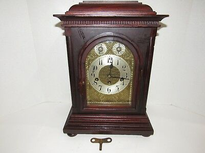 Antique Junghans Quarter Hour Westminster Chime Bracket Clock 8 Day, Key-Wind