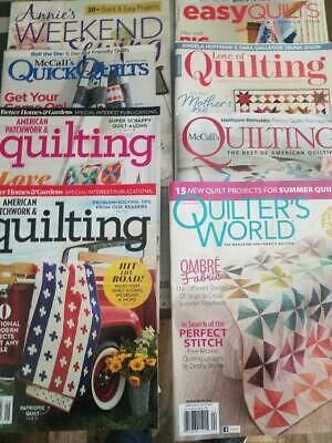 8 Brand New Quilt Magazines - All Current And New Issues