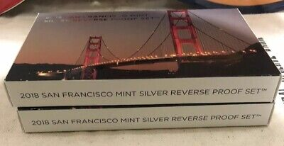 2018 S Silver Reverse Proof Sets Unsearched And Unmolested From US Mint