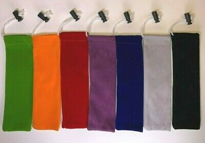 7 Colorful Flannel Bags with Drawstring Sneak-a-Toke Click-n-Hit/Drag/Puff/Go