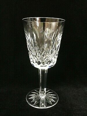 """Waterford Crystal Lismore Pattern Claret Wine Goblet, 6 3/4"""" Tall x 3 1/4"""" Dia"""