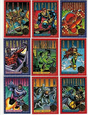 1993 X-Men Skybox Marvel 30 Years Gold Foil Stamped 9 Card Insert Set G1-G9