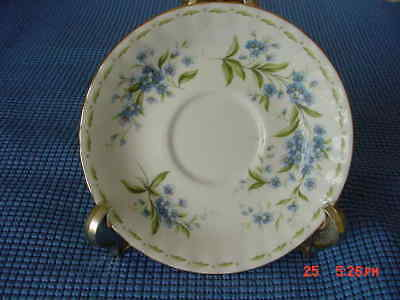 Royal Albert Bone China Flower Of The Month Series- July Forget-Me-Not Saucer