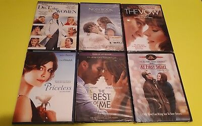 Lot Of 6 Romance DVD'S New At First Sight Priceless The Notebook The Vow Dr T