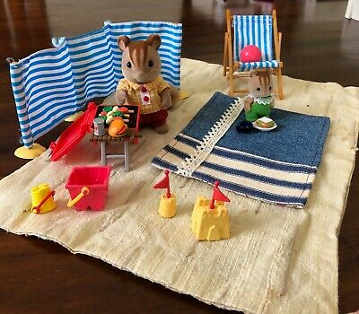 Sylvanian Families Beach Set with extra squirrels! 🐿