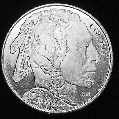 Liberty Indian Head Buffalo 2013 USA Silver 1 Troy oz .999 Fine Silver Round HM
